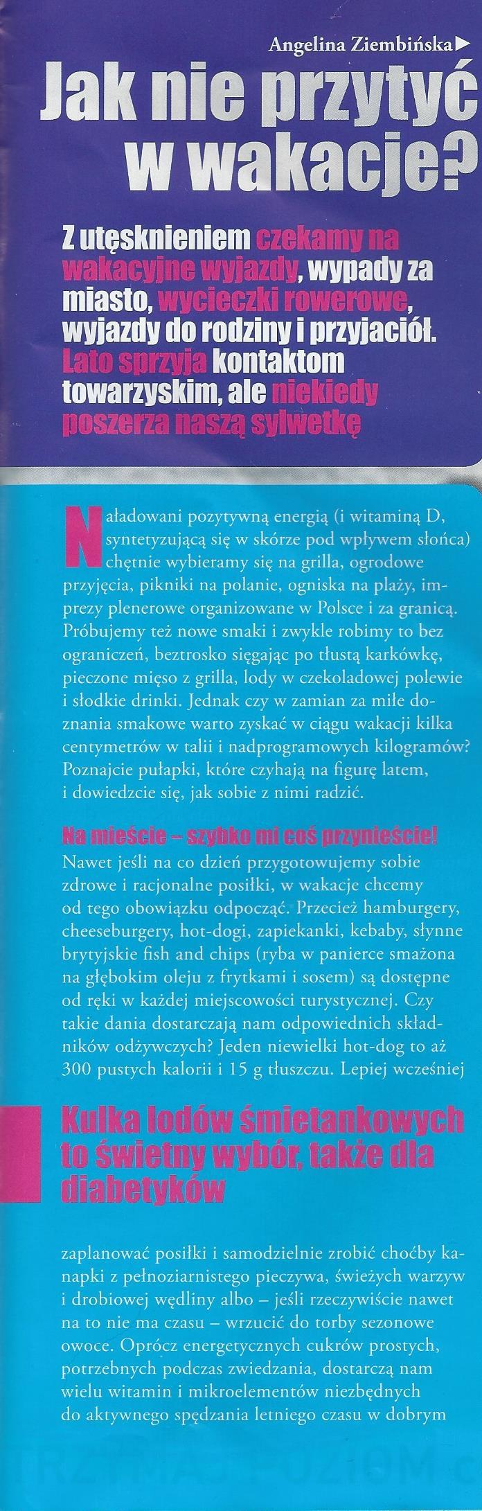 tekst angelina ziembińska dietolog cukrzyca