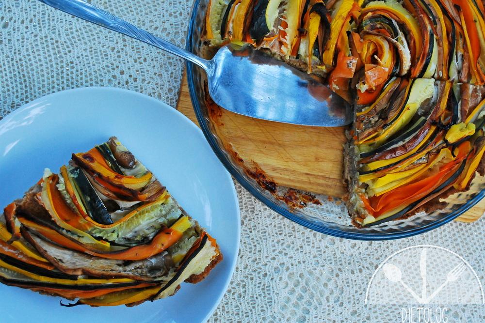 tarta warzywna porcja