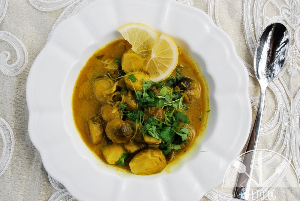 brukselka curry