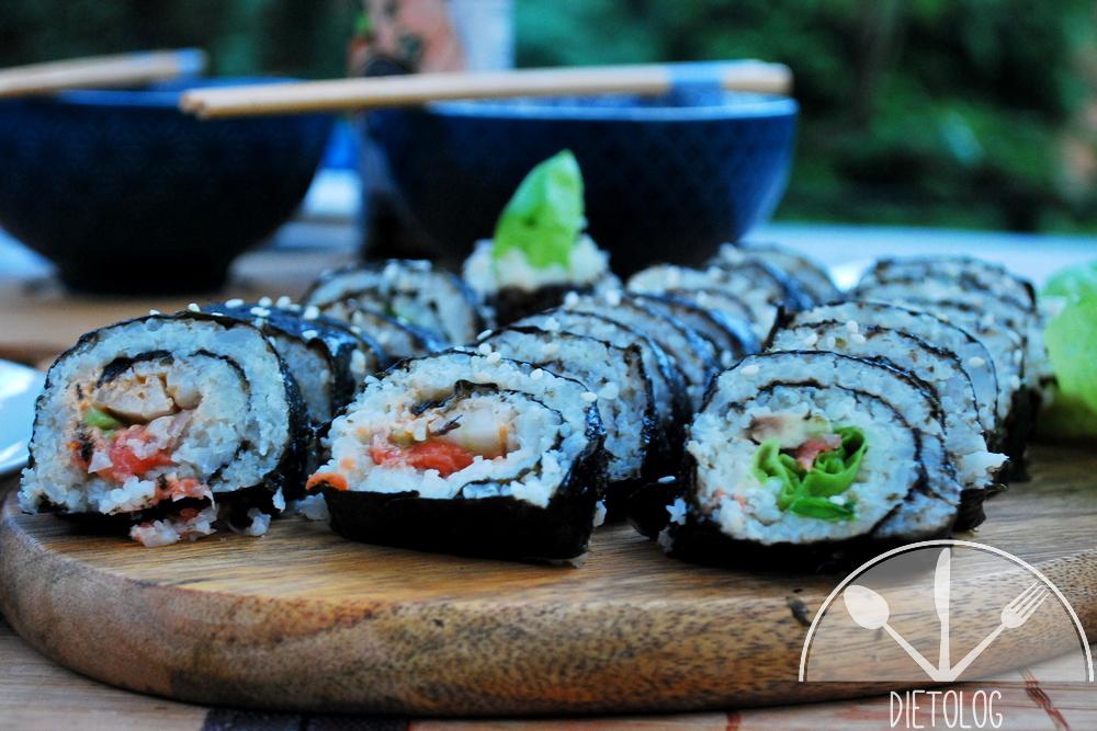 niskowęglowodanowe sushi dla diabetyka