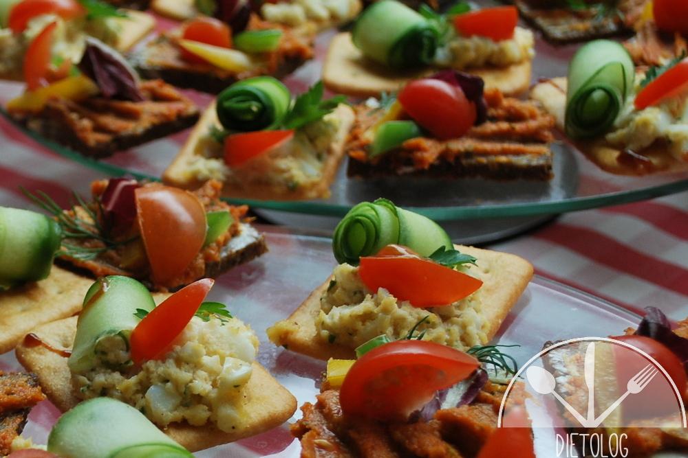 kolorowe kanapeczki z warzywami