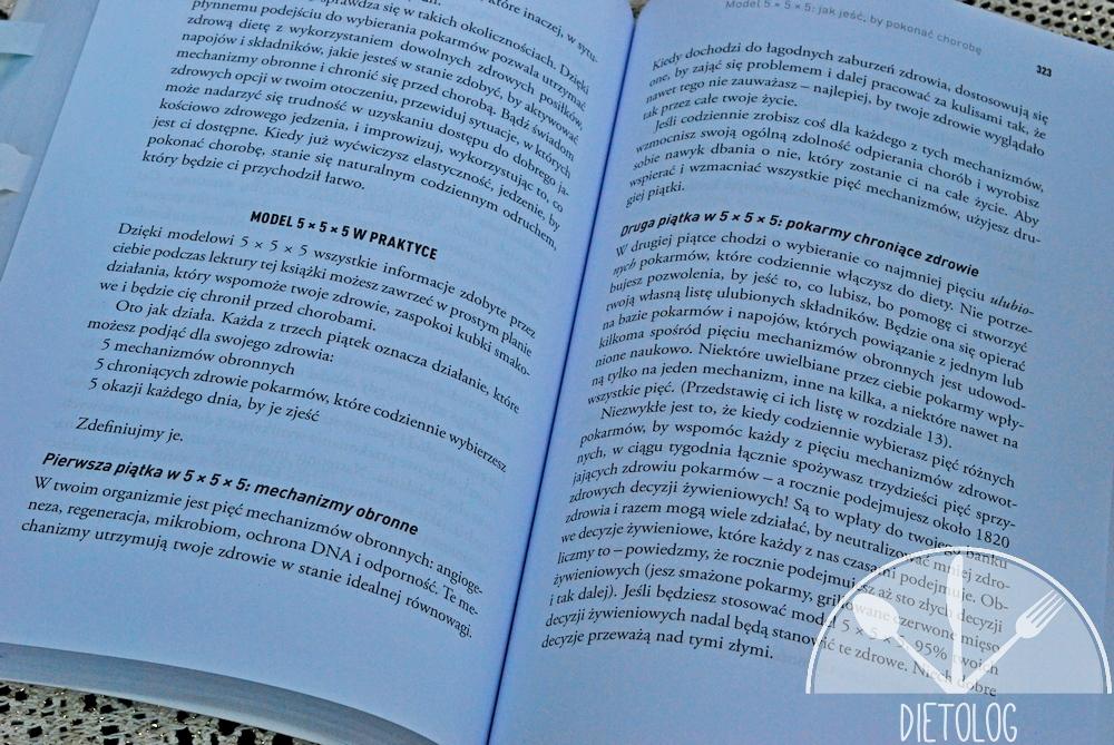 model 5x5x5 z książki Jedz by pokonać chorobę