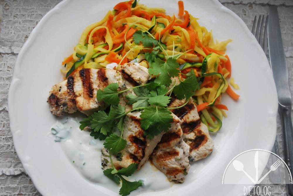 pierś kurczaka z warzywami i jogurtem