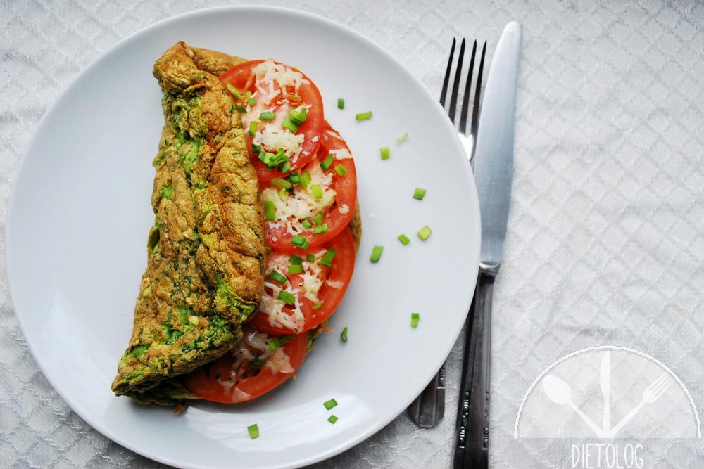 zielony omlet owsiany
