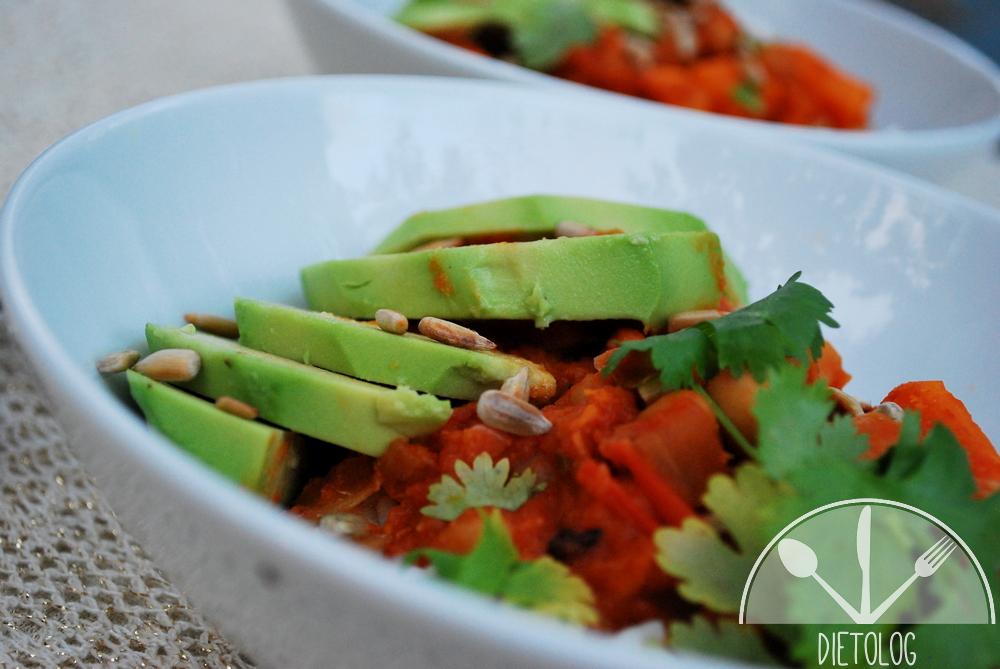 chilli z batatów i fasoli
