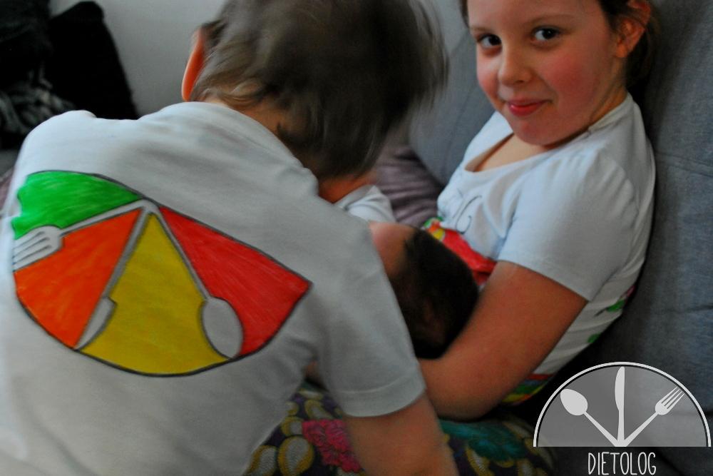 ręcznie malowane koszulki dietolog