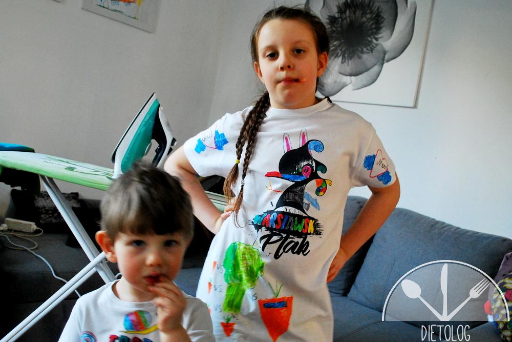 kolorowe ręcznie malowane koszulki